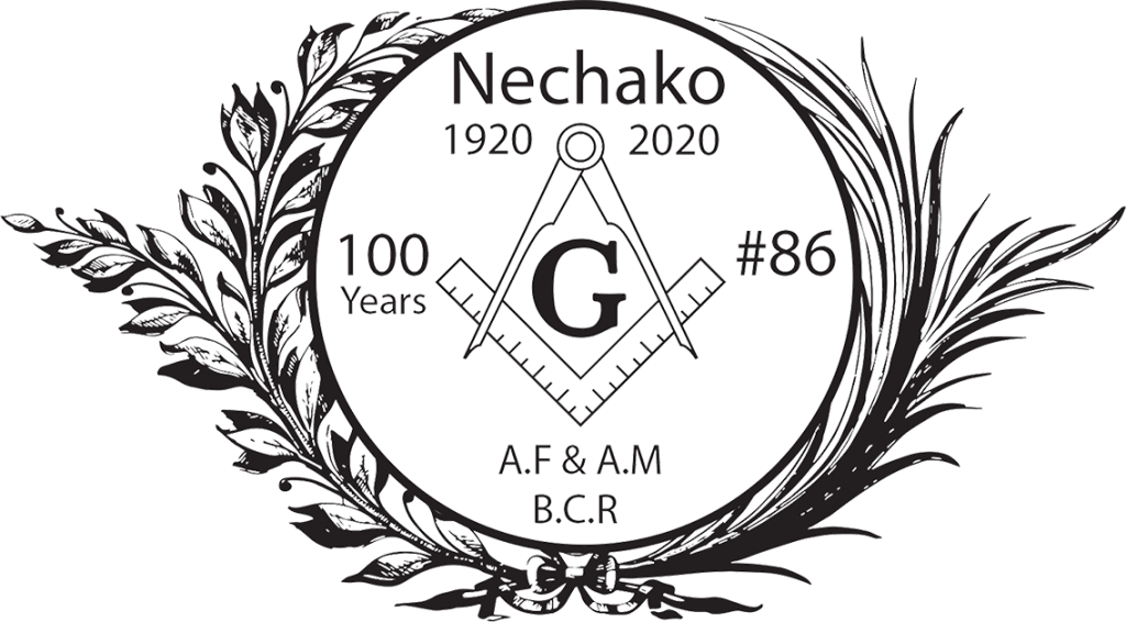 100th Year Freemason Nechako Lodge 86 logo